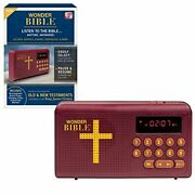 Wonder Bible As Seen On Tv Audio Player Rechargeable Kjv Old And New Testaments