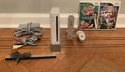 Nintendo Wii Console W/ Wii Remote And Nunchuck + All Cables + Smash Bros.