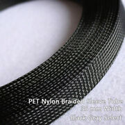 Pet Nylon Braided Sleeve Tube 35 Mm Width Audio Car Cable Wire Sleeving Sheath