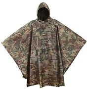 Usgi Industries Military Style Poncho - Emergency Tent, Shelter, Survival - Mult