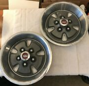 1970-1973 Ford Mustang Mach 1 Sport Hubcap Set Of 2 Mag Hubcap 14 Inch