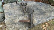Antique Luther Milwaukee Post Hand Crank Drill Press Small Jewelers Cast Iron