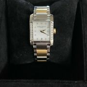 Baume And Mercier Diamant Womens Watch Stainless Steel Yellow Gold Diamond Ladies