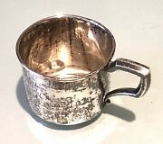 Vintage Antique Web Co Pa Sterling Silver Baby Cup Glass Small Pitcher Bowl Old