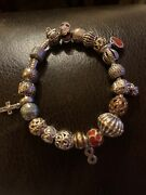 Pandora Bracelet With Charms Pre Owned