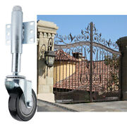 4inch Spring Loaded Pu Wheel Gate Caster Gate Support Wood/chain Link Fences