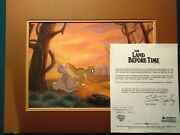 Littlefoot And Ducky Land Before Time Bluth Studios Production Bg Setup Framed