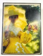 Anheuser Busch Advertising Sign For Lightbox Woman Yellow Dress Rare Vintage