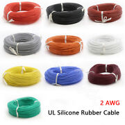2awg Silicone Rubber Cable Ul Tinned Copper Flexible Wire High Temp 200℃ 600v