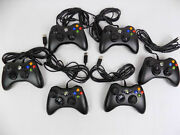 Like New Genuine Microsoft Xbox 360 / Pc Black Wired Controller 100 Tested