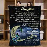 Flannel Blanket Personalized Custom Gifts Throw Blankets For Daughter Christmas