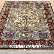 Yilong 4and039x6and039 Handwoven Silk Area Rugs Home Interior Living Room Carpets 1949