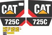 Cat 725c Dump Truck Aftermarket Decal Kit - Very High Quality
