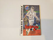 Rs20 Lacrosse Catbirds 1988/89 Cba Basketball Pocket Schedule - Old Style