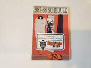 Rs20 Lacrosse Catbirds 1987/88 Cba Basketball Pocket Schedule - Old Style
