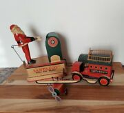 Dept 56 Santa And Co Ltd Toy Makers World Wide Delivery Metal Truck Plane And Santa