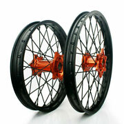 21 19 Mx Front Rear Complete Wheels Set For Ktm Xc Exc Xc-w Sx-f Sxs 125-540