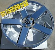 22 22x9.5 6x135 +31 Dub S115 Baller Chrome Wheels Only Ford F-150 Expedition