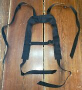 Firstspear Low Profile Tactical Suspenders W/ Chest Strap Black Not Padded Fs