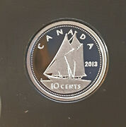2013 Canada Classic Bluenose Design Proof Finish 10 Cent Pure Silver - From Set
