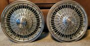 71 - 76 Chevrolet Motor Division Chevelle Monte Carlo 15 Wire Hubcaps Set Of 2