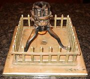 Antique 19th Century Christmas Tree Stand And Picket Fence -  15570