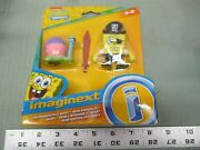 Fisher Price Imaginext Spongebob And Gary Pirate Outfit Wooden Sword Rare Snail