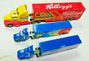 Lot Of Nascar Trucks And Cars Die Cast Metal Kelloggs Dupont Ford 164 Scale