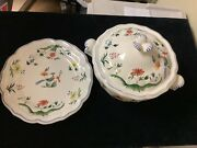 Gien France Garanti Lave Vaissellesoup Tureen - Newwith Serving Plate Base