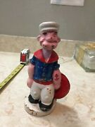 Vintage Popeye The Sailor Cast Iron Bank With Lifesaver