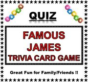And039famous Jamesand039 Pub Quiz Trivia Card Game Table Fun Families/friends/zoom Etc