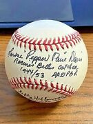Pepper Davis And Lefty Hohlmayer Signed Autographed Onl Baseball Aagpbl