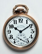 Illinois Bunn Special 1930 23 Jewel Rare 60 Hour Dial Watch Type 111 Excellent