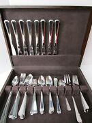 Supreme Cutlery Towle Stainless Japan Flatware Set Of 67 In Wood Case Extras Ls