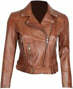 Womens Black Leather Jacket - Real Lambskin Chocolate Brown Leather Jackets For