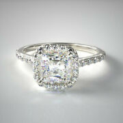 0.84 Carat New Real Diamond Engagement Ring Solid 950 Platinum Size 5 6 7 8.5 9