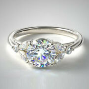 0.80 Carat Real Diamond Engagement Rings 950 Platinum Rings For Her Size 5 6 7 8
