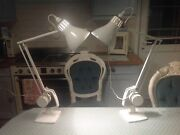 White Vintage Industrial Lamps Hadrill And Horstmann Counterpoise Pat Test