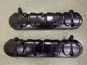 Late Model Engines Ls Black Anodized Billet Valve Covers