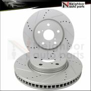 Drilled And Slotted 2x Brake Rotors Disc Front For 2011 2012 2013 Lexus Is250