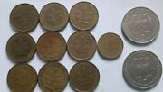 12 X Old German Coins, Various Deutsche Coins - See Photos For Condition