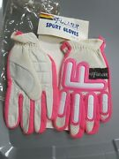 Nos Fulmer Gloves Drum Dyed Leather W/ventilated Nylon Lined Inside 52-9800