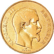 [894009] Coin France Napoleon Iii 50 Francs 1856 Paris Vf Gold Km785.1
