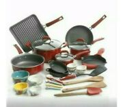 The Pioneer Woman 30 Pc Vintage Speckle 30-piece Cookware Combo Set Red ....