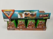 Monster Jam Truck Dirt Kinetic Sand Lot Of 11 5 Oz Arena Refills With Display