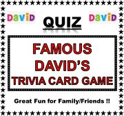 And039famous Davidand039sand039 Pub Quiz Trivia Card Game Table Fun Families/friends/zoom