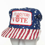Vintage Teamsters Vote '96 Patch Snapback Hat Cap Stars And Stripes Union Made Usa