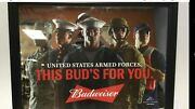 Budweiser U.s. Air Force Armed Forces Military Beer Bar Mirror Man Cave Pub New