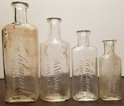 Lot Of 4 1905-10 Knoxville Tennessee Medicine Bottles Kuhlman's Druggist Store