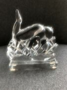 Vintage Baccarat French Crystal Figurine Deer In The Meadow Group Art Deco